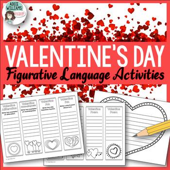 Valentine Bookmarks - Figurative Language Review & Practice