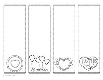 Valentine Bookmarks - Figurative Language Review & Practice