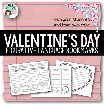 Valentine Bookmarks - Figurative Language