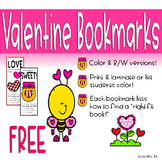Valentine Bookmarks with Right Fit Book Guide