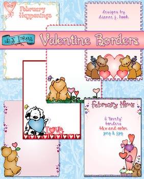 Valentine Borders Clip Art Download