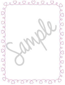 Valentine Borders and Frames Collection Doodle Clip Art Page Printables Hearts