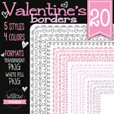 Doodle Borders and Frames Collection Clip Art Page Printab