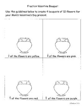 Valentine Bouquet Fractions