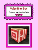 Valentine Box Perimeter and Area Craftivity