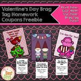 Valentine Brag Tag Homework Coupon Freebie!
