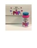 Valentine Bubbles Gift Labels