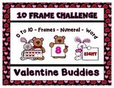 Valentine Buddies 10 Frame Challenge - Frame ~ Word ~ Numb