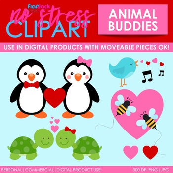 Valentine Buddies Clip Art (Digital Use Ok!)