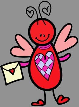 Valentine Buddies Clip Art - Whimsy Workshop Teaching
