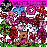 Valentine Clipart Buddies {Creative Clips Clipart}