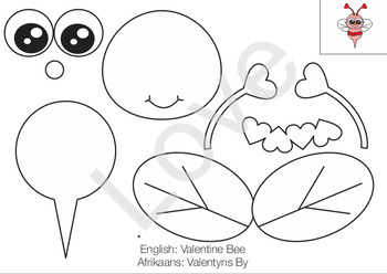 Valentine Bug Templates for Crafting