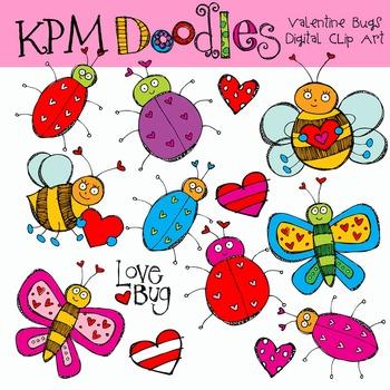 Valentine Bugs CLip art