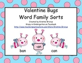 Valentine Bugs Word Family Sorts