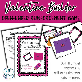 Valentine Builder: Open Ended Reinforcement Game: Great for Speech and Language