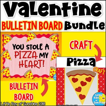 Valentine Bulletin Board And Craft Bundle By Little Ray Of Sunshine