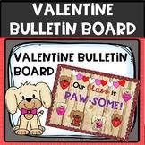 Valentine Bulletin board puppy