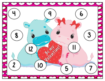 Valentine Bump: A Number Recognition, Counting, Adding, & Subitizing Game