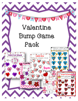 Valentine Bump- Addition, Subtraction and Number Recogintion Fluency