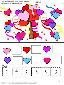 Valentine's Day Bundle Math and Literacy  Special Education Fine Motor Skills