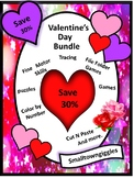 Kindergarten Valentines Day Math and Literacy Activities BUNDLE, February Unit