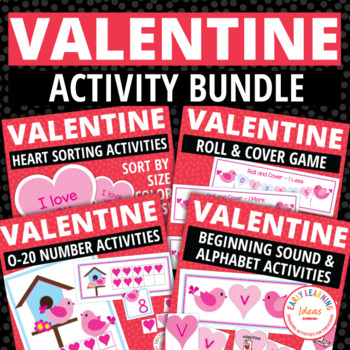 Valentine's Day Bundle:  Valentines Day Activites for Preschool and ECE