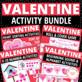 Valentine's Day Activity Bundle | Valentines Day Math & Literacy