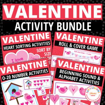 Valentine S Day Activity Bundle Valentines Day Math Literacy