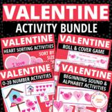 Valentine's Day Activity Bundle   Valentines Day Math & Literacy