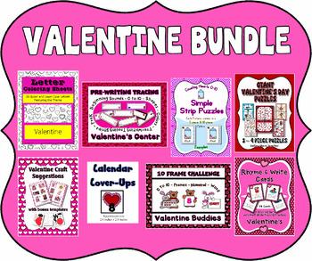 Valentine Bundle ~ All new for 2017 ~ Preschool & Kindergarten Friendly