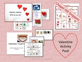 Valentine Activity Pack- Book, Bingo, and recipe with comm