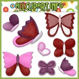 $1.00 BARGAIN BIN - Valentine Butterflies Clip Art