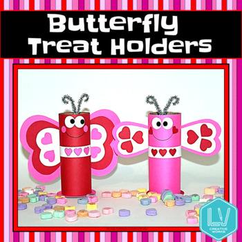 Valentine's Day Craft - Butterfly Treat Holders