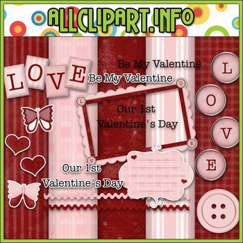 Valentine Commercial Use Clip Art Kit