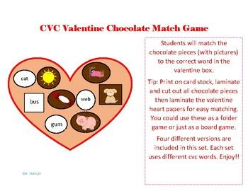 Valentine CVC Chocolate Picture Match