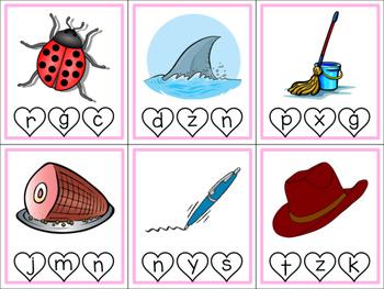 Valentine CVC Clip Cards (Ending Sounds)