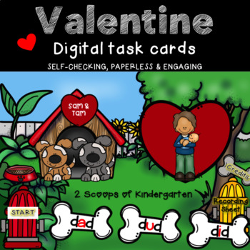 Valentine CVC Power Point Game (Puppy theme)