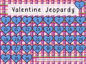 Valentine CVC Powerpoint Jeopardy