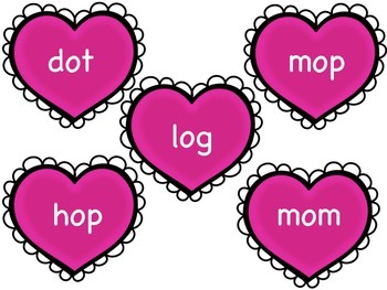 Valentine CVC Word Sort