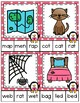 Valentine CVC Word and Picture Matching Clip It Cards