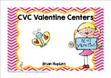 Valentine CVC Word Work Centers