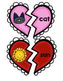 Valentine CVC word practice