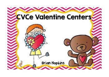 Valentine CVCe Word Work Centers