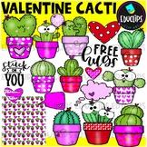 Valentine Cacti Clip Art Set {Educlips Clipart}