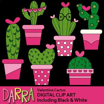 Valentine Cactus Clipart