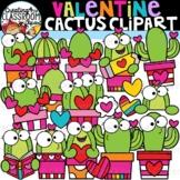 Valentine Cactus Clipart {Valentine's Day Clipart}