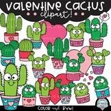 Valentine Cactus {cactus clipart}