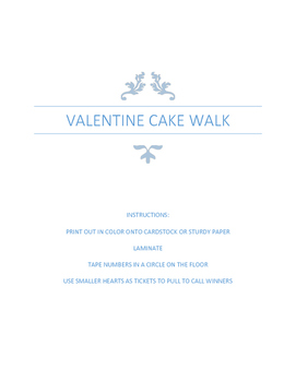 Valentine Cake Walk Game