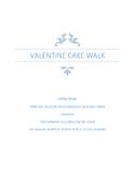 Valentine Cake Walk Game