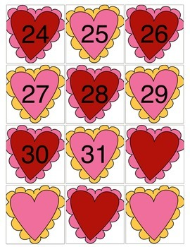 Valentine Calendar Cards with an AB Pattern